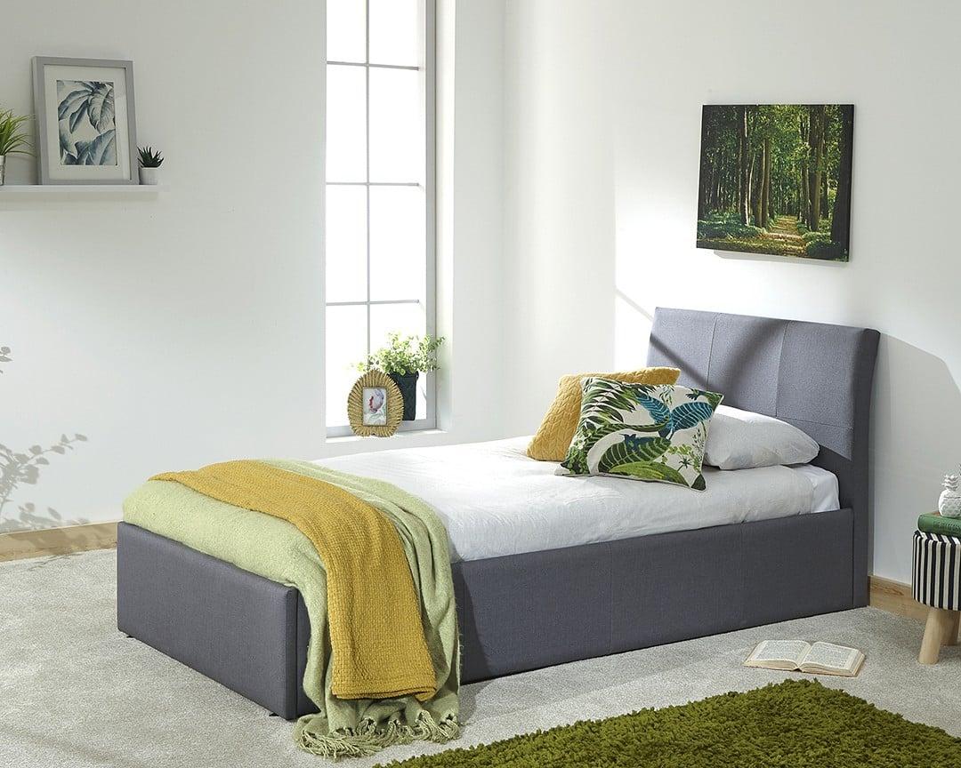 alaska grey single ottoman bed frame dublin beds. Black Bedroom Furniture Sets. Home Design Ideas