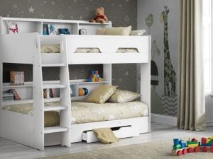 Julian Bowen Orion White Bunk Bed