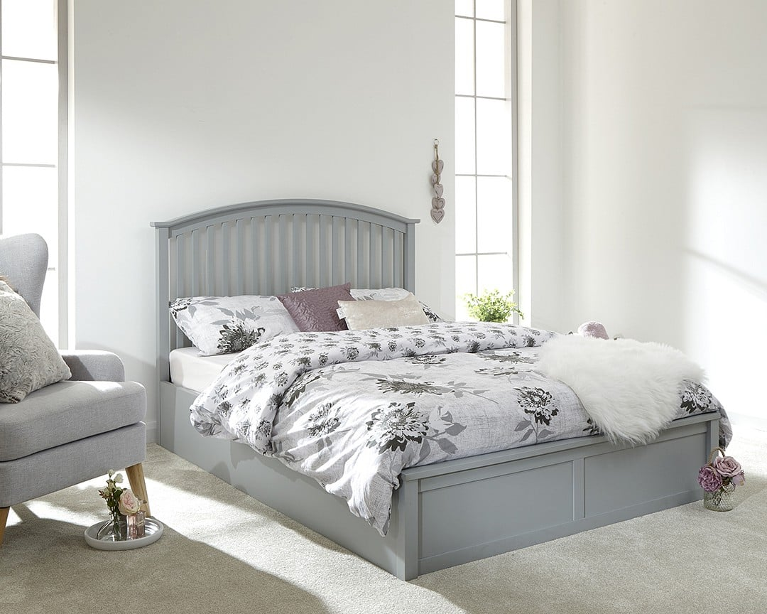 Picture of: Kansas Grey Single Ottoman Bed Frame Dublin Beds