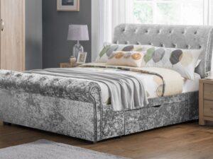 Julian Bowen Verona Silver Drawer Bed Frame